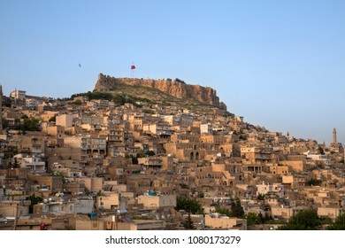 Ancient and stone houses of Old Mardin (Eski Mardin) with Mardin Castle, Located South Eastern of Turkey