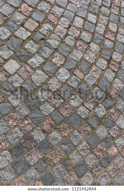 Ancient stone pavement in the old town