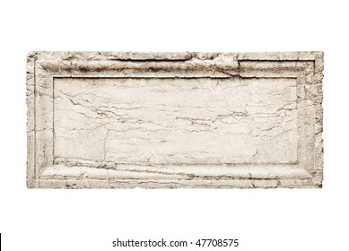 ancient stone slab with carved frame
