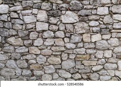 Antigua pared de piedra