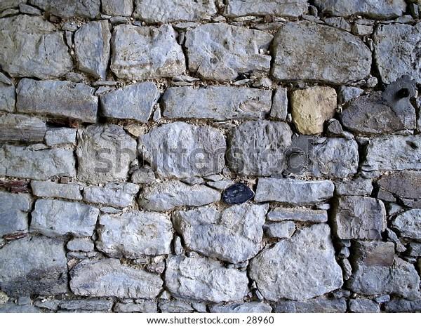 Ancient stone wall,Barking abbey,London.