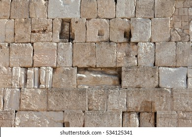 Ancient stones of the Western wall, Jerusalem