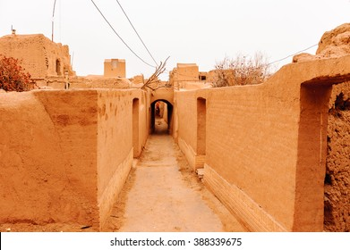 Ancient street in the city of Meybod,Iran