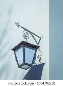Ancient street lamp close up