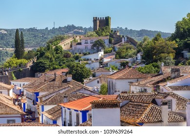 The ancient streets and houses of Portuguese village of Obidos.
