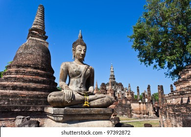 Ancient stupa in Sukhothai Historical Park, Thailand