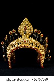 The ancient style crown which use for Thai traditional dancing actress