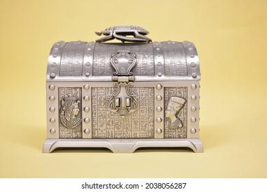 Ancient Style Jewelry Metal Box  - Shutterstock ID 2038056287