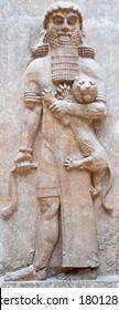 Alte Sumerische Steinschnitzereien mit keilförmigen Schriften