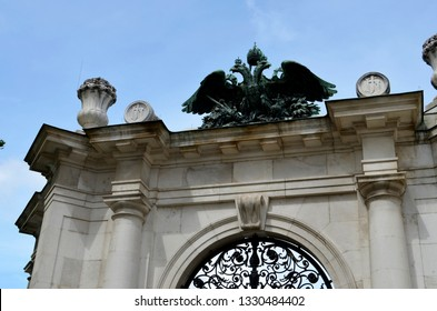 Ancient symbol of Austria: double-headed eagle in Vienna