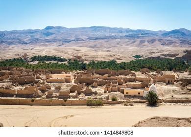 Ancient Tamaqzah settlement in Tamerza, Tozeur, Tunisia