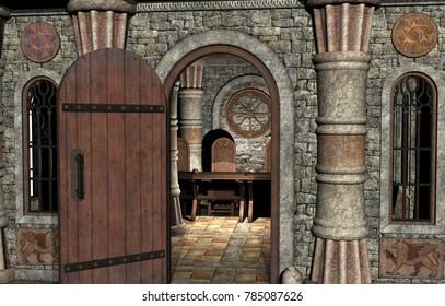 Ancient Temple 3D rendering
