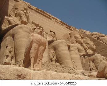 the ancient temple of Abu Simbel, Egypt