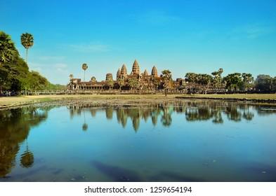 Ancient temple Angkor Wat Cambodia