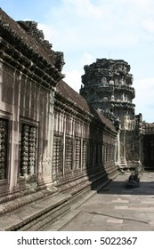 Ancient Temple of Angkor Wat in Cambodia