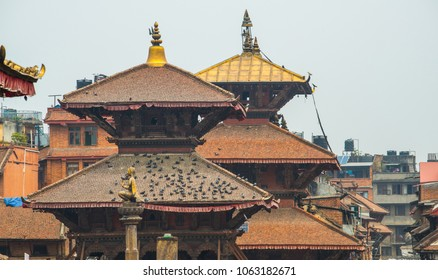 The ancient temple in Bhaktapur or Bhadgaon the city of Devotees ancient Newa city in the east corner of the Kathmandu Valley, Nepal.
