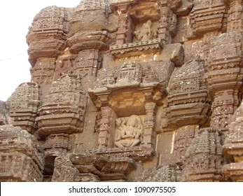 Ancient temple dome sculptures