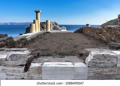 ancient temple in a Greek island of Kea