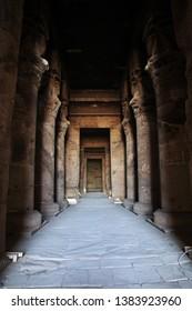 Ancient temple Hathor in Dendera, Egypt
