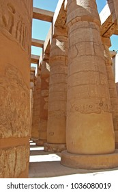 The ancient Temple at Karnak in Egypt.