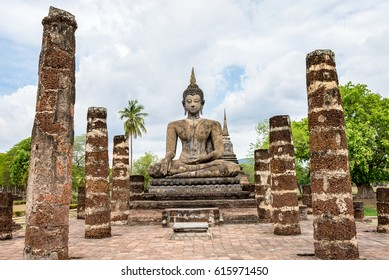 Ancient Temple in Sukhothai Historical Park, Unesco World Heritage, Thailand