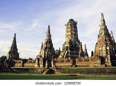 ancient temple in thailand , Wat chaiwatthanaram