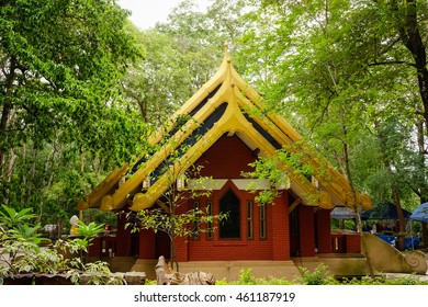 Ancient Temple . Wat U-mong (Tunnel temple) in Chiang mai province, Thailand.