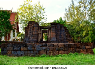 The Ancient temple,Khmer Temple, old temple name Prasat Muang Kao, Angkor period time, Korat, Sung noen, Thailand - traveling concept.