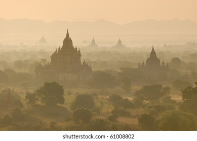 Ancient temples and stupas in Bagan, Myanmar