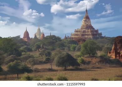 Ancient temples and stupas on the plainsBagan Myanmar (Burma)