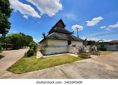 Ancient Thai Lanna temple at Wat Ton Laeng, Pua District, Nan