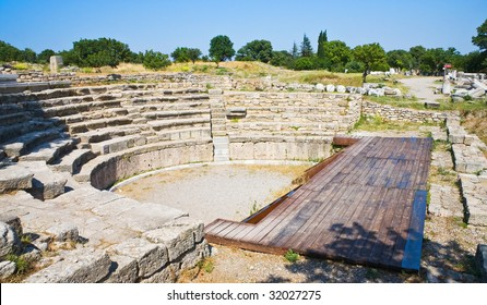 Ancient theater in legendary Troy, Turkey