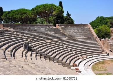 Ancient theater in Ostia Antica, Rome, Italy