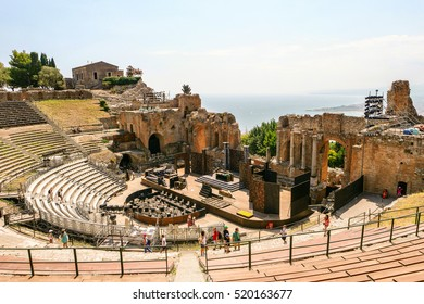 ancient Theater of Taormina Sicily Italy August 2016