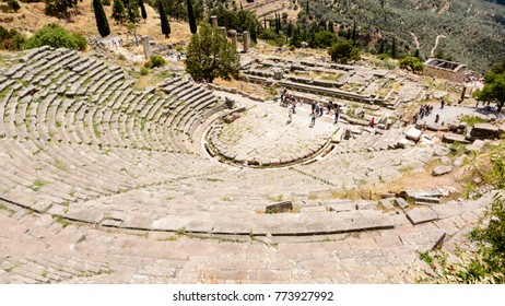 Ancient Theatre in Delfi, Greece