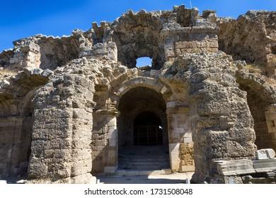 Ancient theatre in Side, Turkey