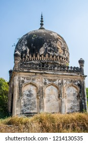 The ancient tomb of Qutb Shahi in Hyderabad - India. The Kings are resting in the tombs located near the Golconda fort.Best destination in IncredibIe India.
