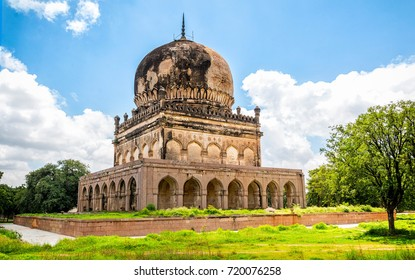 The ancient tomb of Qutb Shahi in Hyderabad - India. The Kings are resting in the tombs located near the Golconda fort.