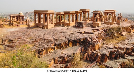 Ancient tombs of Jaswant Thada in Jodhpur, India. Jaswant Thada was built by Maharaja Sardar Singh of Jodhpur State in 1899.