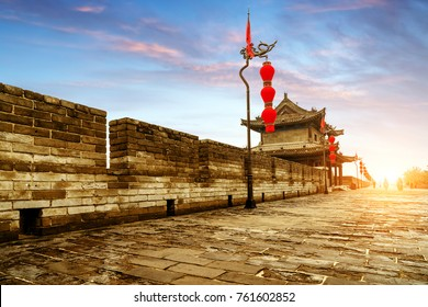 Ancient tower on city wall in Xi'an - China