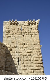Ancient tower of Shobak castle, Jordan.