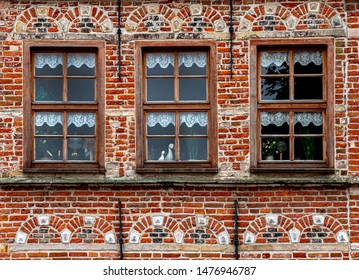 ancient town facade in norden, travel germany
