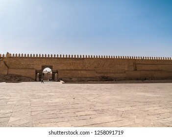 ancient town fortified walls in Fes, Morocco, Africa
