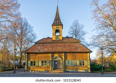 Ancient town hall in Sigtuna - winter view