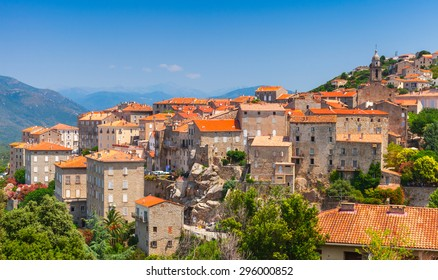 Ancient town landscape. Sartene, South Corsica, France
