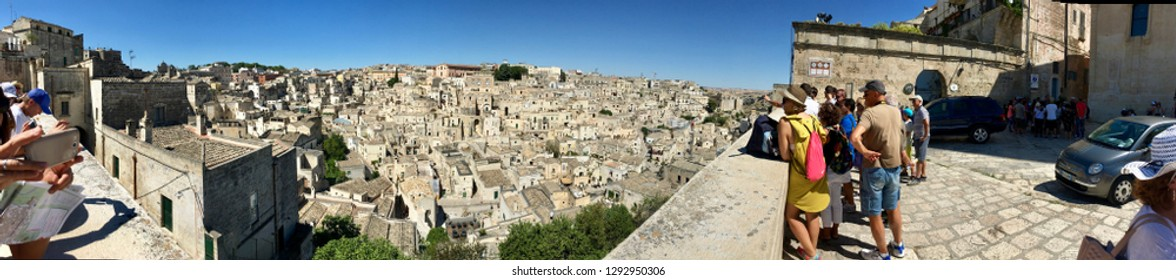 Ancient Town of Matera (Sassi di Matera) . A wonder skyline of medieval city of Matera, Basilicata - Italy 16/08/2017 . The place chosen by director Mel Gibson for The Passion of Christ movie | Photo