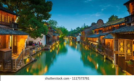 The ancient town of Wuzhen is a famous historical and cultural town in China. It is located in Zhejiang Province, China.