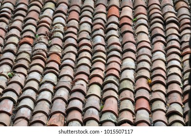 Ancient Terracotta Roof Tiles Images Stock Photos