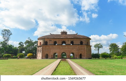 An ancient two-stored vintage building which once served as the royal sports- pavilion.
