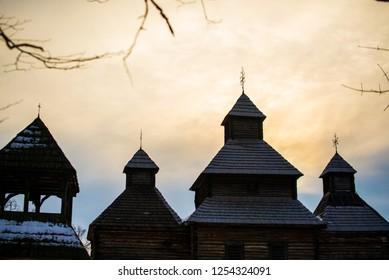 Ancient Ukrainian Church in Kiev, December 9, 2018
